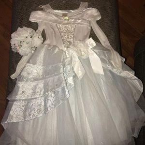 Girls Disney Cinderella Bride Costume