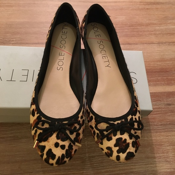 Sole Society Shoes   Leopard Flats 9