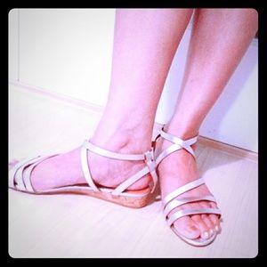 H&M (NWOT) Silver Strap Sandals