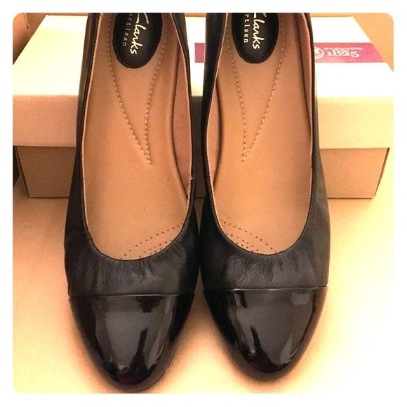 837c937058 Clarks Shoes | Alitay Susan Pump Black Leather Size 11w | Poshmark