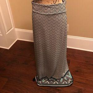 Black & Cream Maxi Skirt