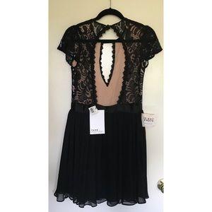 Fame & Partners Dresses - {Fame & Partners} Black Lace Cap Sleeve Dress