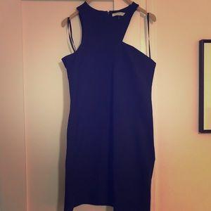 Navy Halston dress