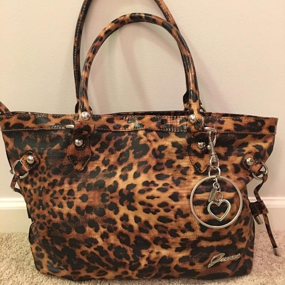 e0b2f871a897 Guess Handbags - GUESS Leopard handbag/purse
