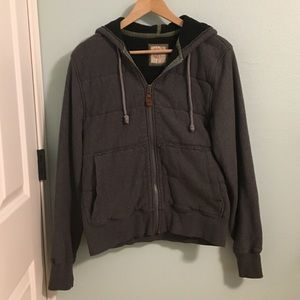 Boys XL Thick Flannel Zip Up Jacket
