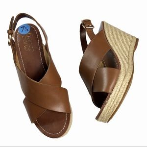 New Franco Sarto Espadrille Wedge Sandal