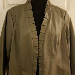 Taupe Pleather Jacket