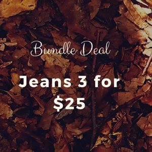 Denim - Bundle of Jeans 3 for $25