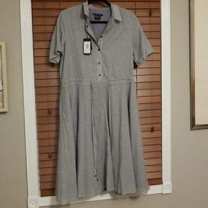 Armani Exchange Pinstripe Dress