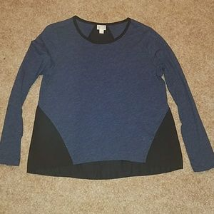 NWOT Blue/Black Top