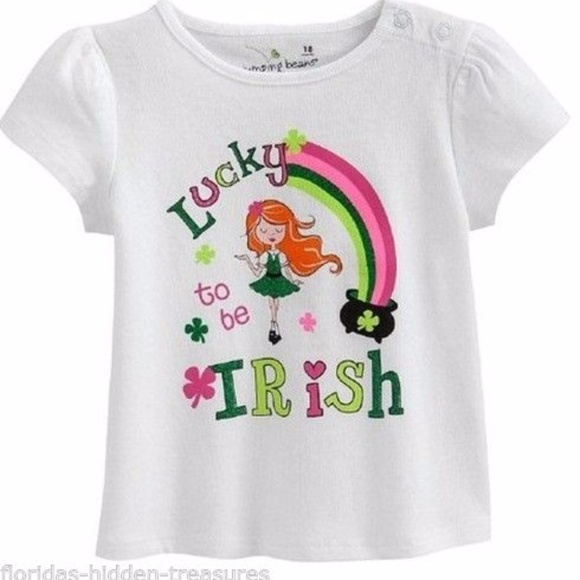 6a3b7d297 Jumping Beans Shirts & Tops | Lucky To Be Irish St Patricks Day ...
