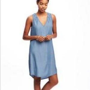 Dresses & Skirts - Chambray dress with keyhole back, small