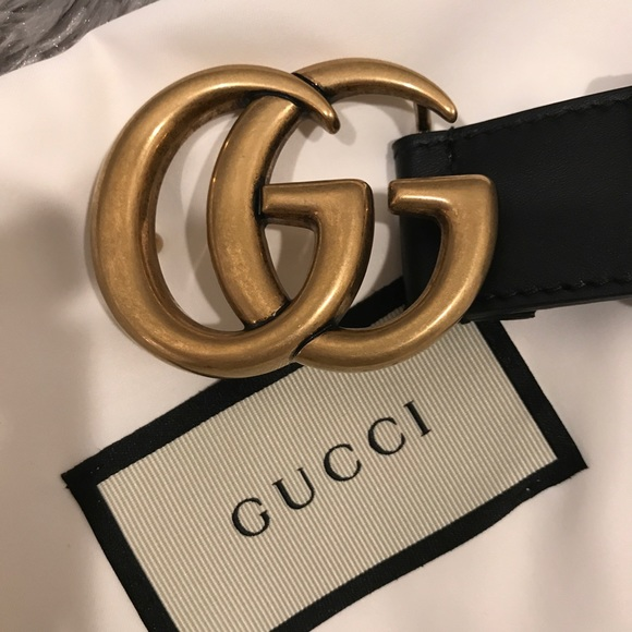 85616864a Gucci Accessories - Gucci Double GG Marmont 1'inch Black Belt. Size 90
