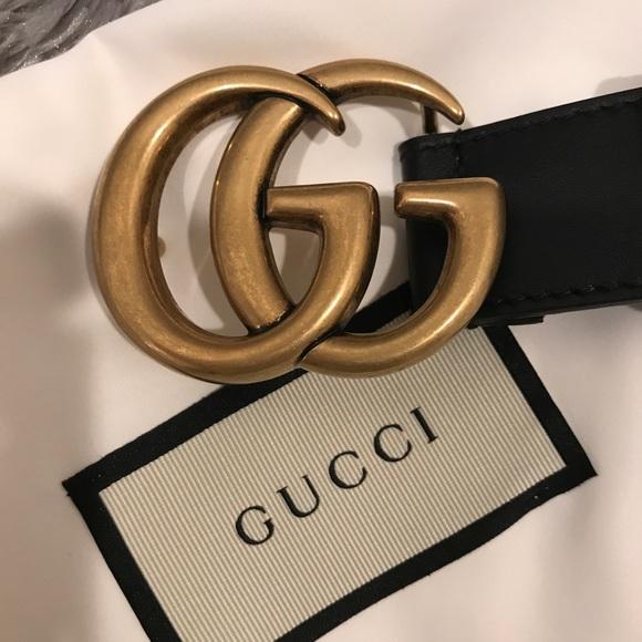 d45924044266 Gucci Accessories - Gucci Double GG Marmont 1'inch Black Belt. Size 90
