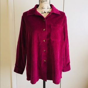 LL Bean Cotton Corduroy Shirt Jacket Button Down