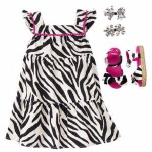 GYMBOREE Girl's Wild For Zebra Animal Print Dress