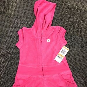 Greendog Baby Girl Terry Coverup Pink 12m NWT