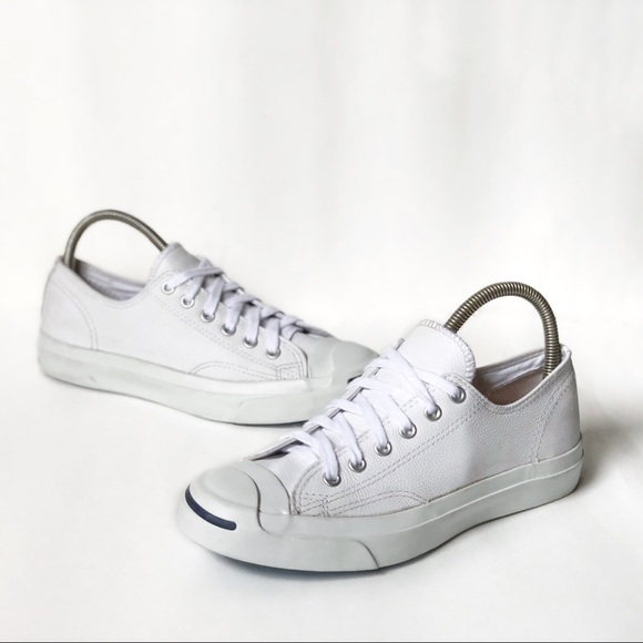 1cd0e1a8492c Converse Other - Converse Jack Purcell white leather shoes