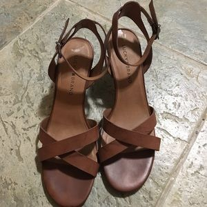 Lucky brand brown sandal type heels