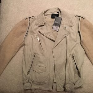 NWT DOMA LEATHER SHEARLING AND LEATHER JACKET