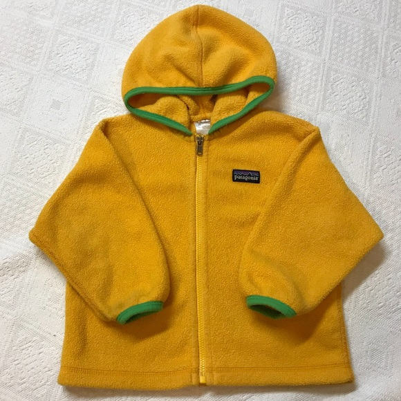 1b9bccb62 Patagonia 18 Months Fleece Full Zip Hoodie Yellow.  M_59ffbca47fab3a5257100c7d