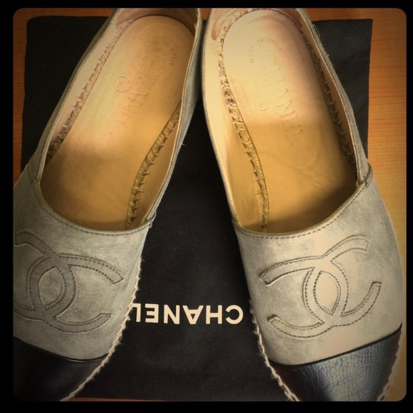 d01b55ea52d4 CHANEL Shoes - Chanel espadrilles grey suede with black leather