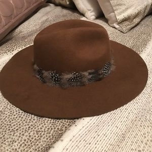 Zara Hat with Feather Detail