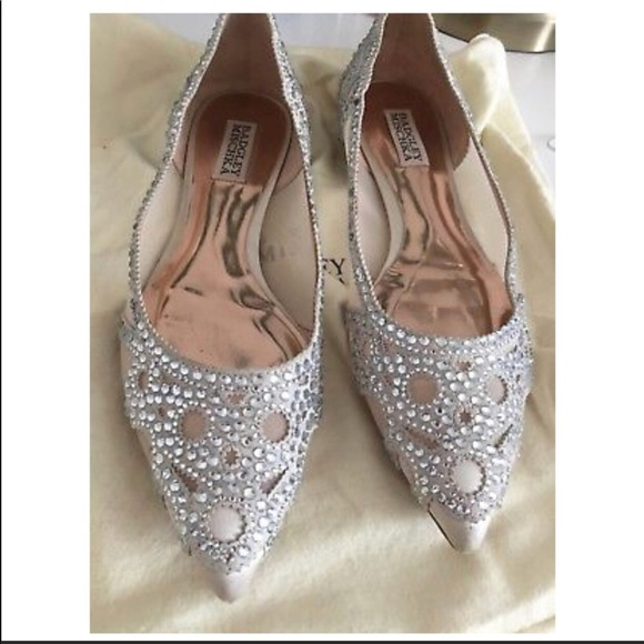 ef073f3fdac3 Badgley Mischka Shoes - Gigi Crystal Pointy toe Flats Badgley Mischka