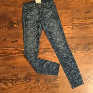 Rachel Roy damask print jeans