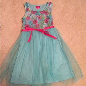 Sequin and tulle floral dress