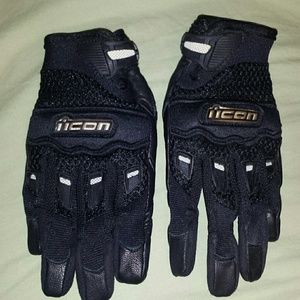 NWOT ICON WOMENS MOTORCYCLE GLOVES SZ XS(6)