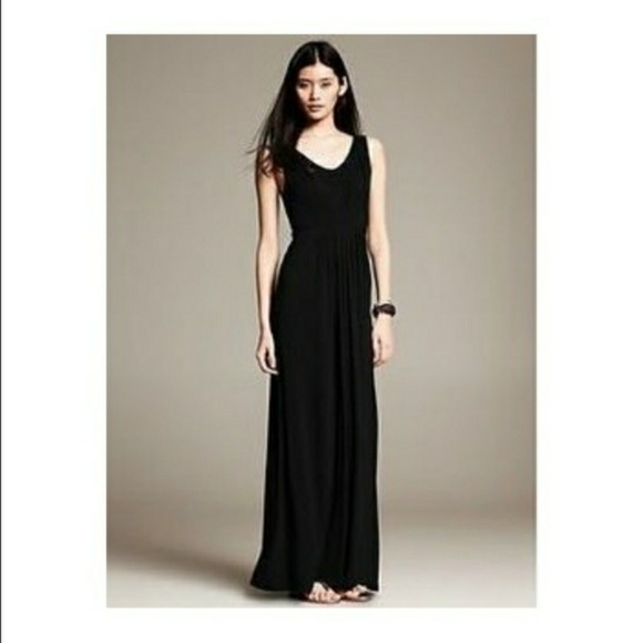 c6dbb9ba204 Banana Republic Dresses   Skirts - Banana republic black maxi dress