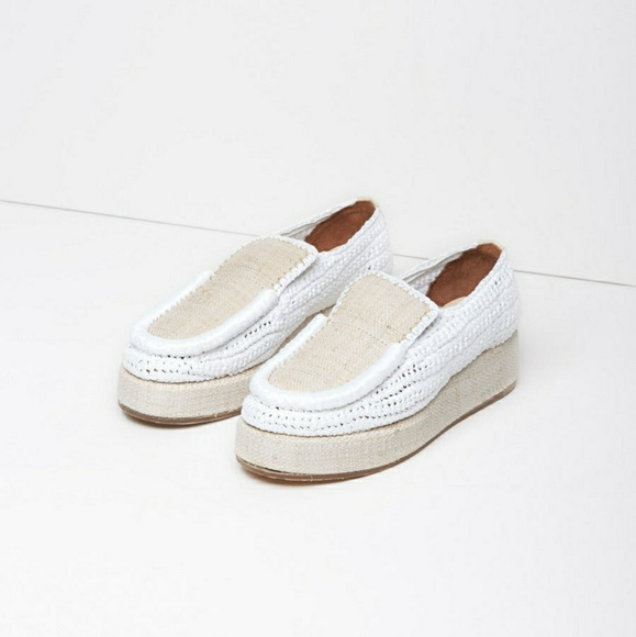 Acne Studios Beige Silvio Raffia Sneakers buy cheap excellent scODga