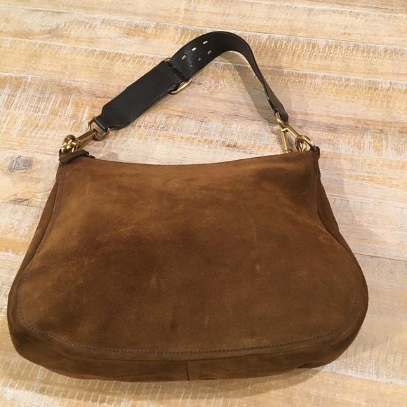 Prada Bags   Brown Suede Purse   Poshmark b3b25401e4