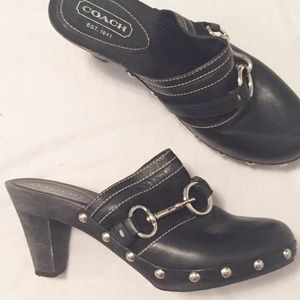 Coach Shoes - COACH Sutton Black Clogs Mules