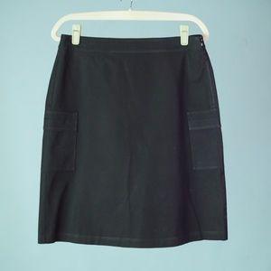 Eileen Fisher Medium Black Cargo Pocket Skirt