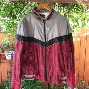 Mens vintage 80s windbreaker jacket medium large