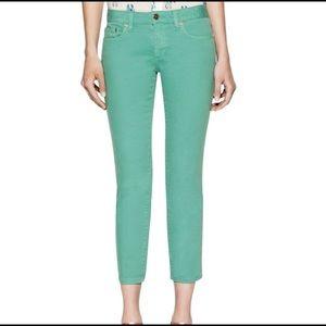 💚Tory Burch Alexa Cropped Skinny Jean (Teal)💚