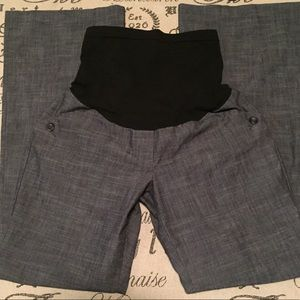 Motherhood Maternity Pants - Maternity wide leg chambray pants size small