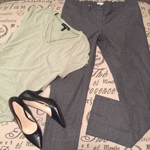 Gray maternity wool slacks size large