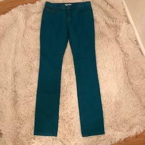 NWOT Free People Blue Straight Leg Skinny Jeans