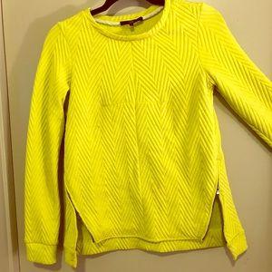 Tibi Yellow Textured Sweater