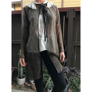 Vintage✨100% silk chiffon kimono tunic
