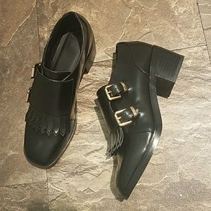 Asos heeled loafers