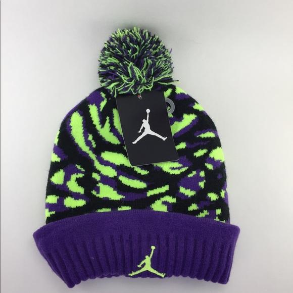 NWT Jordan beanie purple camo c09a797554c