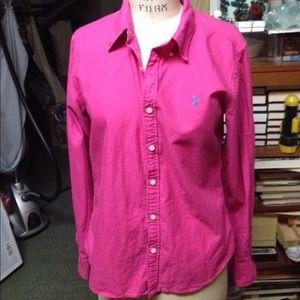 Polo Ralph Lauren shirt dark pink Sz 10 worn once