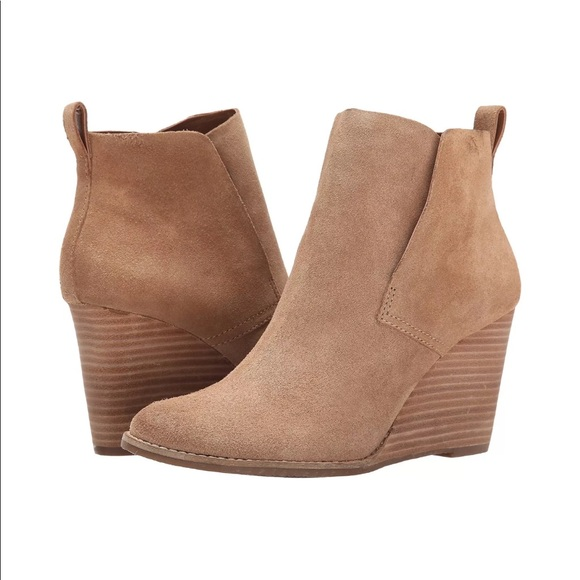 e73291857e41 Lucky Brand Shoes - New Lucky Brand Yoniana Suede Wedge Bootie Boots