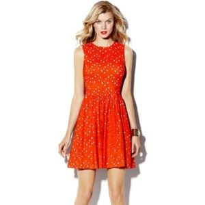Vince Camuto Orange Eyelet Size 2 Dress
