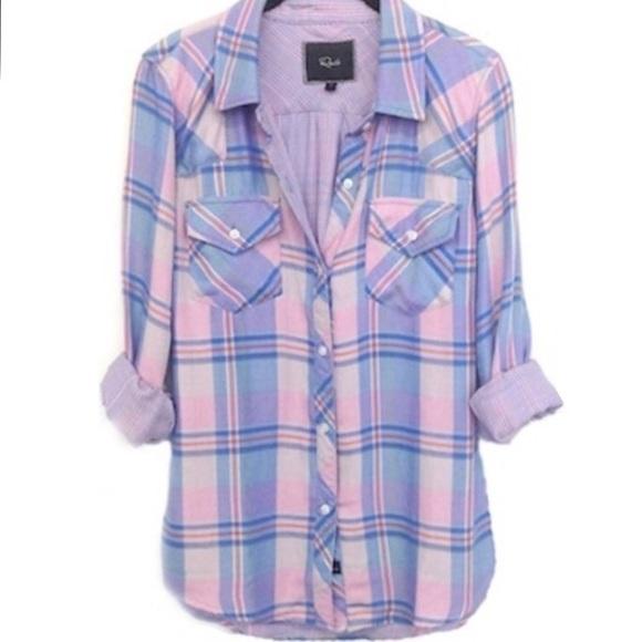 adce6b4d59077 Rails Kendra Plaid Shirt in Pink Pastel