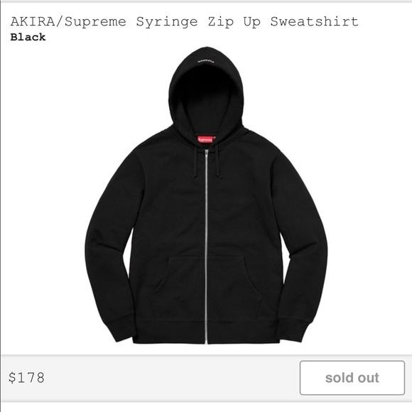 a9ce5f2fd441 Akira Supreme Syringe Zip Up Sweatshirt (BLACK)
